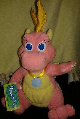 "Dragon Tales Flying Dragon 10"" CASSIE Plush Playskool 1999 Stuffed Pink"