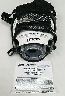 Lot Of 40 Scott Safety Av-3000 Medium Full Facepiece Mask Respirator New