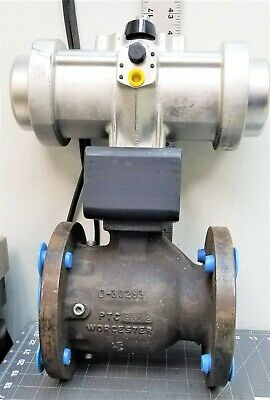 3 Flanged Worcester Ball Valve With Pneumatic Actuator New D2s5
