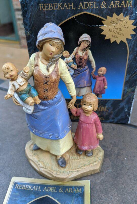 "Fontanini Rebekah Adel & Aram 5"" Nativity Village figure Italy Depose Box & Card"