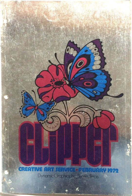 Vtg Clipper Creative Iconic American Commercial Art Large Format Book Feb 1972