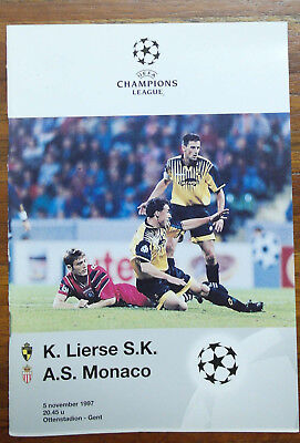 Stadion Programm / Lierse SK - AS Monaco / 05.11.1997 / Champions League