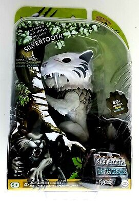 WowWee Untamed Sabre Tooth Tiger by Fingerlings – Silvertooth (Silver) –...