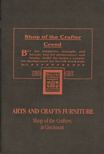 Arts and Crafts Furniture - Shop of the Crafters at Cincinnati / Scarce Book