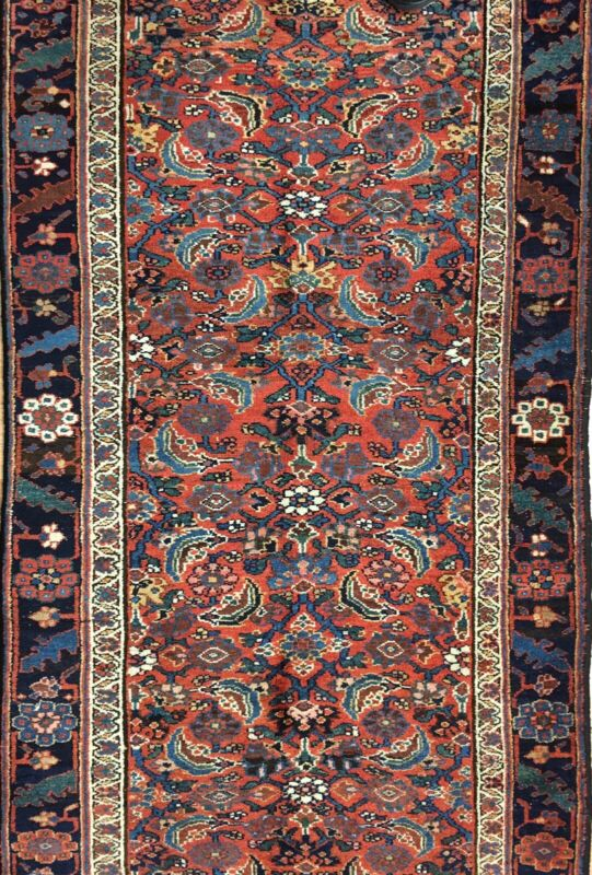 Terrific Tribal - 1900s Antique Kurdish Runner - Oriental Tribal Rug 3.4 X 11.3
