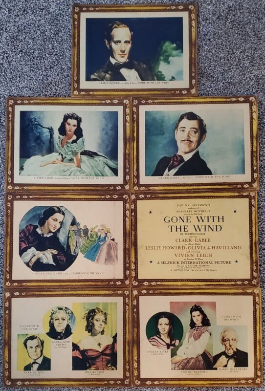 Gone With The Wind Original 1939 MGM Roadshow Lobby Card Set (trimmed)