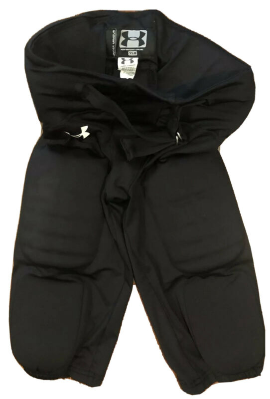 UNDER ARMOUR BLACK FOOTBALL PANTS YOUTH LARGE NICE!