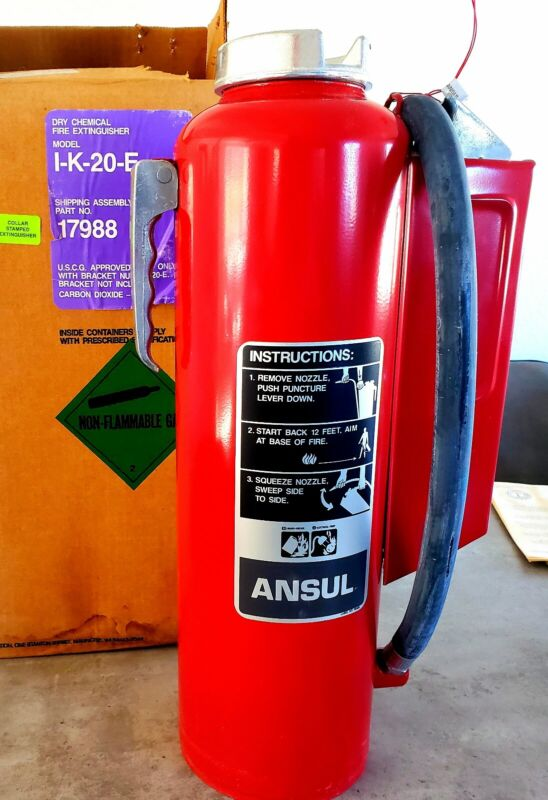 New Purple K Ansul RED LINE Fire Extinguisher, Type II Class 2 Size 20 Type BC
