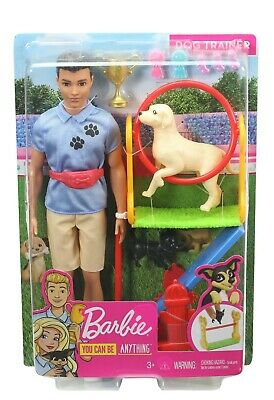 Barbie You Can Be Anything Ken Doll Dog Trainer Playset - NEW
