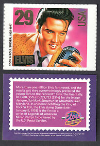 ELVIS-PRESLEY-THE-COLLECTION-River-Group-1992-RARE-US-POSTAGE-STAMP-Card