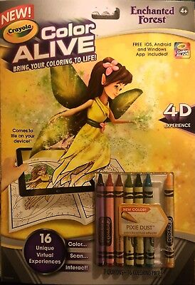 Crayola Color Alive Enchanted Forest 4-D Experience Coloring Book