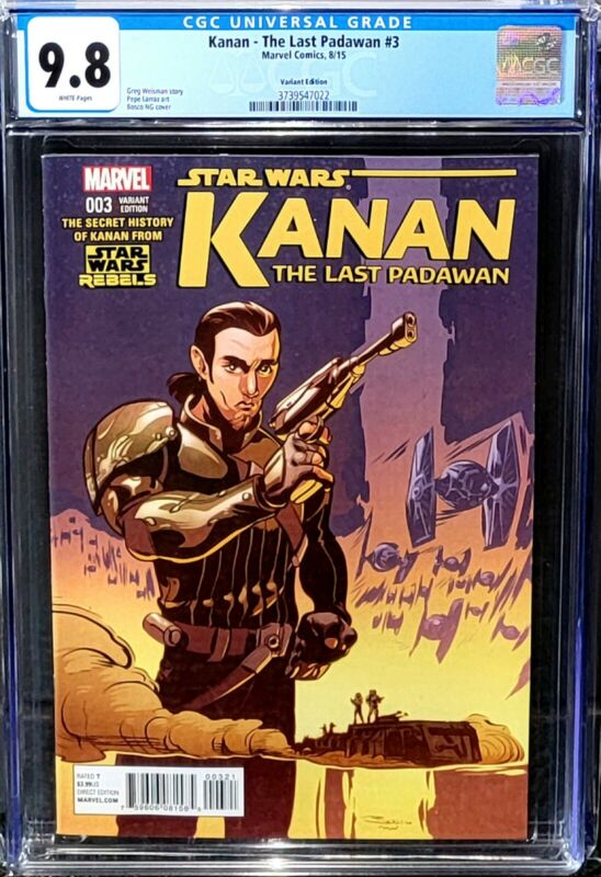 Kanan The Last Padawan #3 CGC 9.8 Variant Edition Bad Batch only 6 graded 9.8