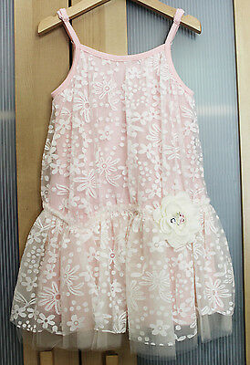 Sara Girls Clothing - NWT Baby Sara Girls' Floral Overlay Dress ~ Size 4