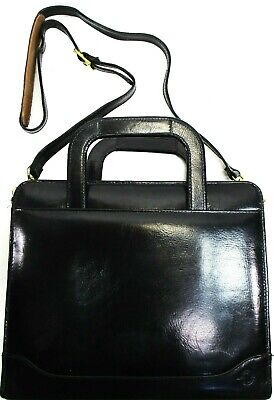 Franklin Covey Leather 7 Ring Binder Black Style 23228190 Six Card Slots