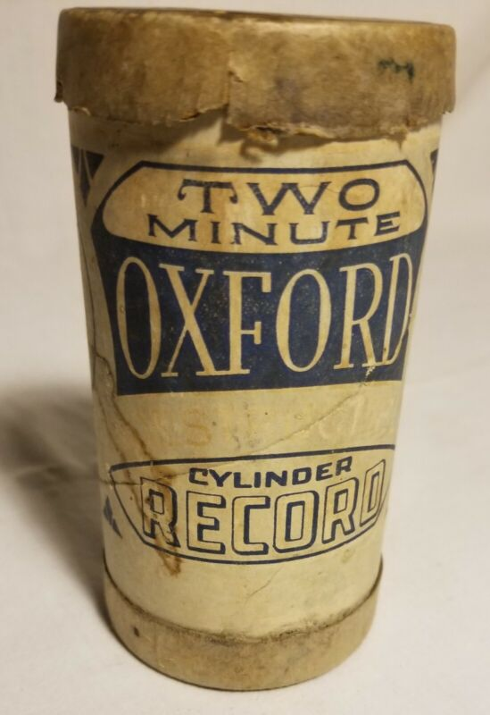 Oxford Record container only for phonograph cylinder Antique advertising 1900s