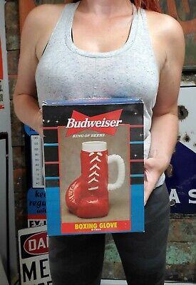 Vintage ANHEUSER BUSCH BUDWEISER Boxing Glove Stein In Box 1997