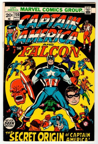 CAPTAIN AMERICA And Falcon #155 - VG/FN 1972 Marvel Vintage Comic
