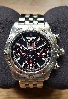 Breitling Chronomat Blackbird Red Strike Mens Watch A44359 Ltd Edition Box Paper