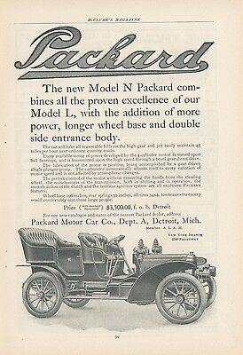 1904 Packard Model N Ad Early Car Auto Vintage Advertisement