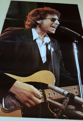 "Bob Dylan Rock Superstar Penthouse Press Poster 36"" x 22.5"" from 1975 MINT Cond."