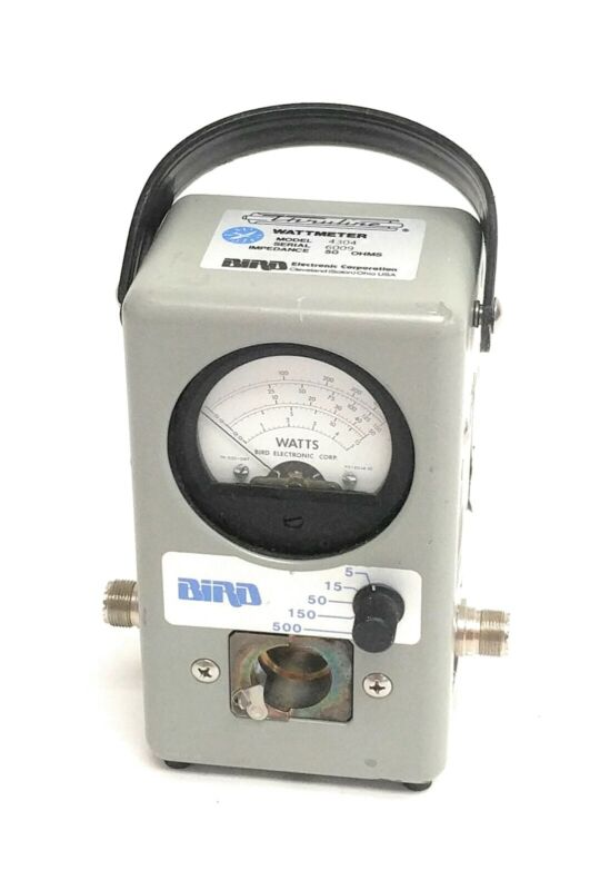 Bird 4304 Thruline Wattmeter 5/15/50/150/500 Watts, No Element