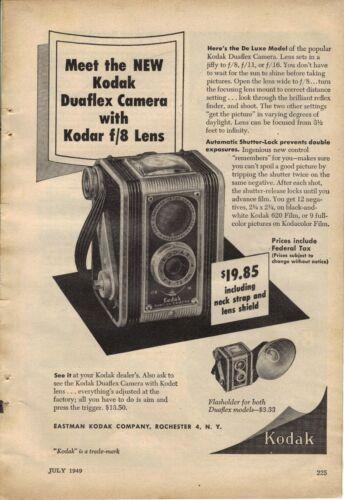 Original 1949 Kodak Duaflex Camera Magazine Ad
