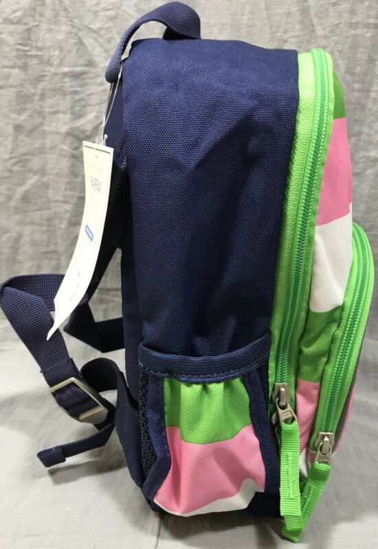 Pottery Barn Kids Pink Green Stripe Fairfax Pre K Backpack