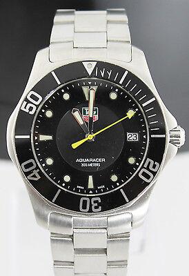 Tag Heuer Aquaracer WAB1110.BA0800 Mens Black Steel Swiss Quartz Wrist Watch