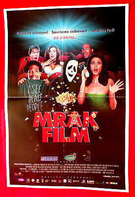 SCARY MOVIE 2000 1SH ANNA FARIS JON ABRAHAMS MARLON WAYANS SERBIAN MOVIE POSTER