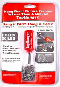 TapHanger Picture Frame Hanging Kit With 80 TapTacks Holds Up To 20 lbs >NEW<