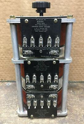 Variac General Radio Company Type W20h 0-230vac 8 A Open Rating 3 Stack Phase