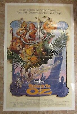 1985 RETURN TO OZ Original 1-SH Movie Poster FN 6.0 27x41 Fairuza Balk