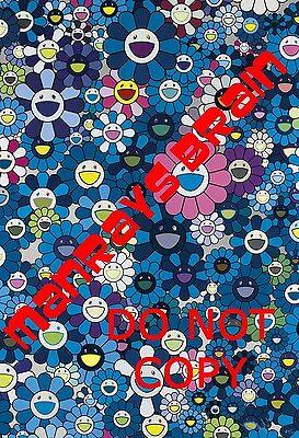 "TAKASHI MURAKAMI HOMAGE TO IKB, 1957 BLUE  13X19"" PHOTO POP ART"