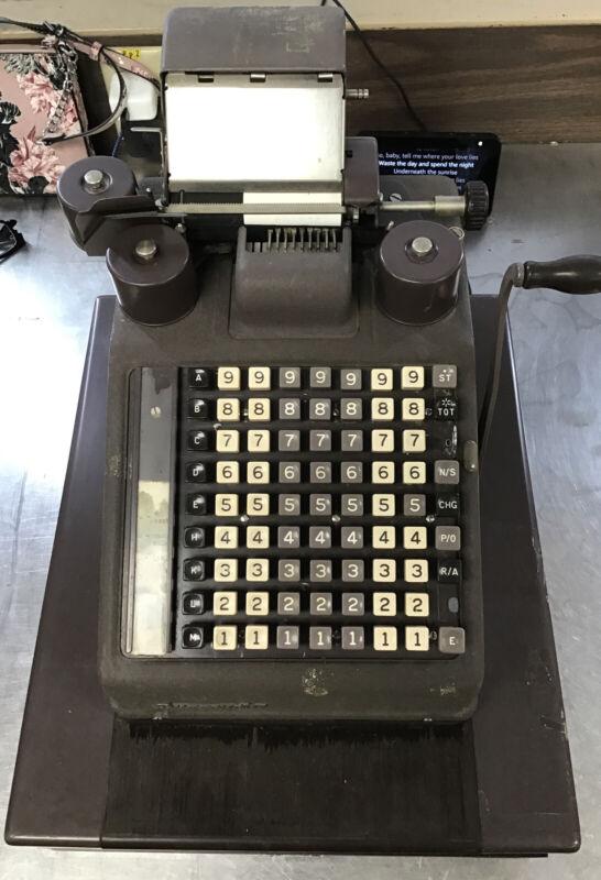 Vintage Burroughs Adding Machine Cash Register