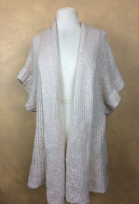 Short Sleeve Sweater Motherhood Maternity Open Knit Wide  Size M Acrylic
