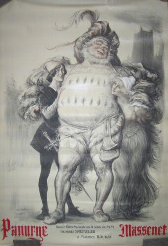"Original Vintage French Opera Poster ""Panurge Massanet"""