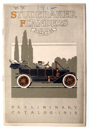 "RARE 1912 STUDEBAKER ""FLANDERS 20"" PRELIMINARY CATALOG, DETROIT, MICH."