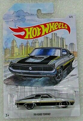 Hot wheels 2019 detroit muscle series 1970 70 ford torino silver #6 / 6 htf