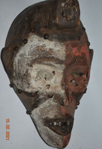 """orig $399 YOMBE MASK EARLY 1900S 12"""" PROV"""