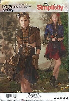 Simplicity 8409 COSTUME Pattern ARKIVESTRY STEAMPUNK COSPLAY Misses 6-8-10-12-14