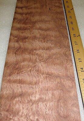 Bubinga Waterfall Quilted Figure Wood Veneer 5 X 15 Raw No Backing 132 Thick