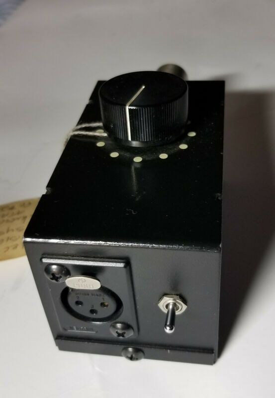 EVS Electronic Visionary Systems Balanced Ultimate Attenuator  XLR