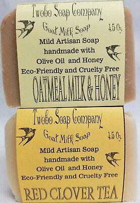 Oatmeal Goat Milk Soaps, FREE SHIPPING, Handmade, best friend gift, honey,