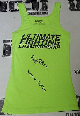 Rowdy Bec Rawlings Signed Personally Worn Used Ufc Tuf 20 Shirt Psa Dna Coa Auto