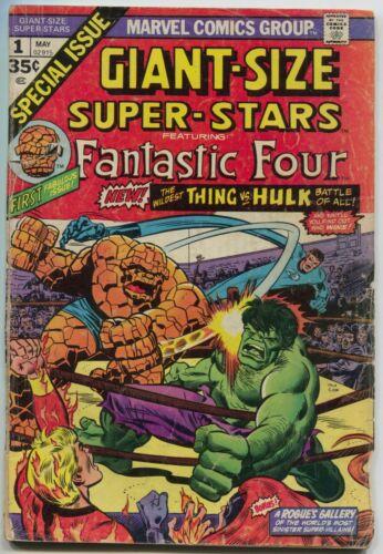 Giant Size Super Stars 1 Marvel 1974 FR Fantastic Four Hulk Vs Thing