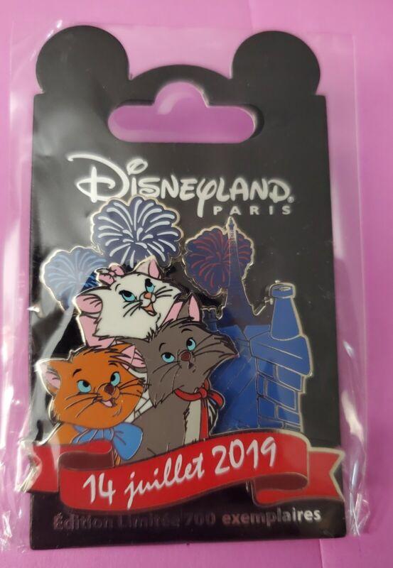 Disneyland Paris Pin Aristocats Independence Bastille 14 Juillet 2019 LE 700 HTF