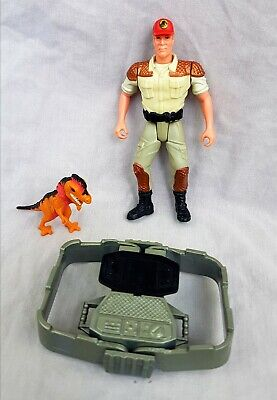 Jurassic Park Jaws Jackson Dino Trackers Action Figure Vintage 90s Kenner