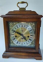 HOWARD MILLER Graham Bracket Key Wound Mantel Clock 612-437 340-020 Triple Chime