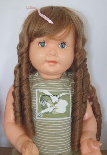 """perruque Jumeau® boucles blondes T42/44cm-poupée ancienne-doll Wig head sz17"""""""