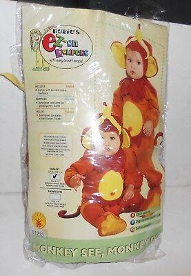 Monkey See Monkey Do Infant Halloween Costume  6-12 months Rubies Easy on - Monkey See Monkey Do Costume